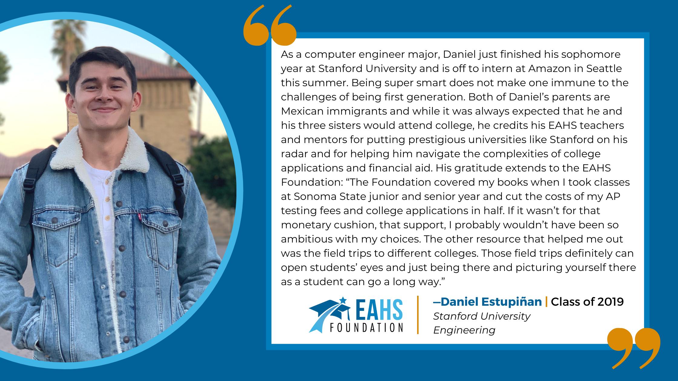 Alumni Spotlight -Daniel Estupiñan, EAHS Foundation