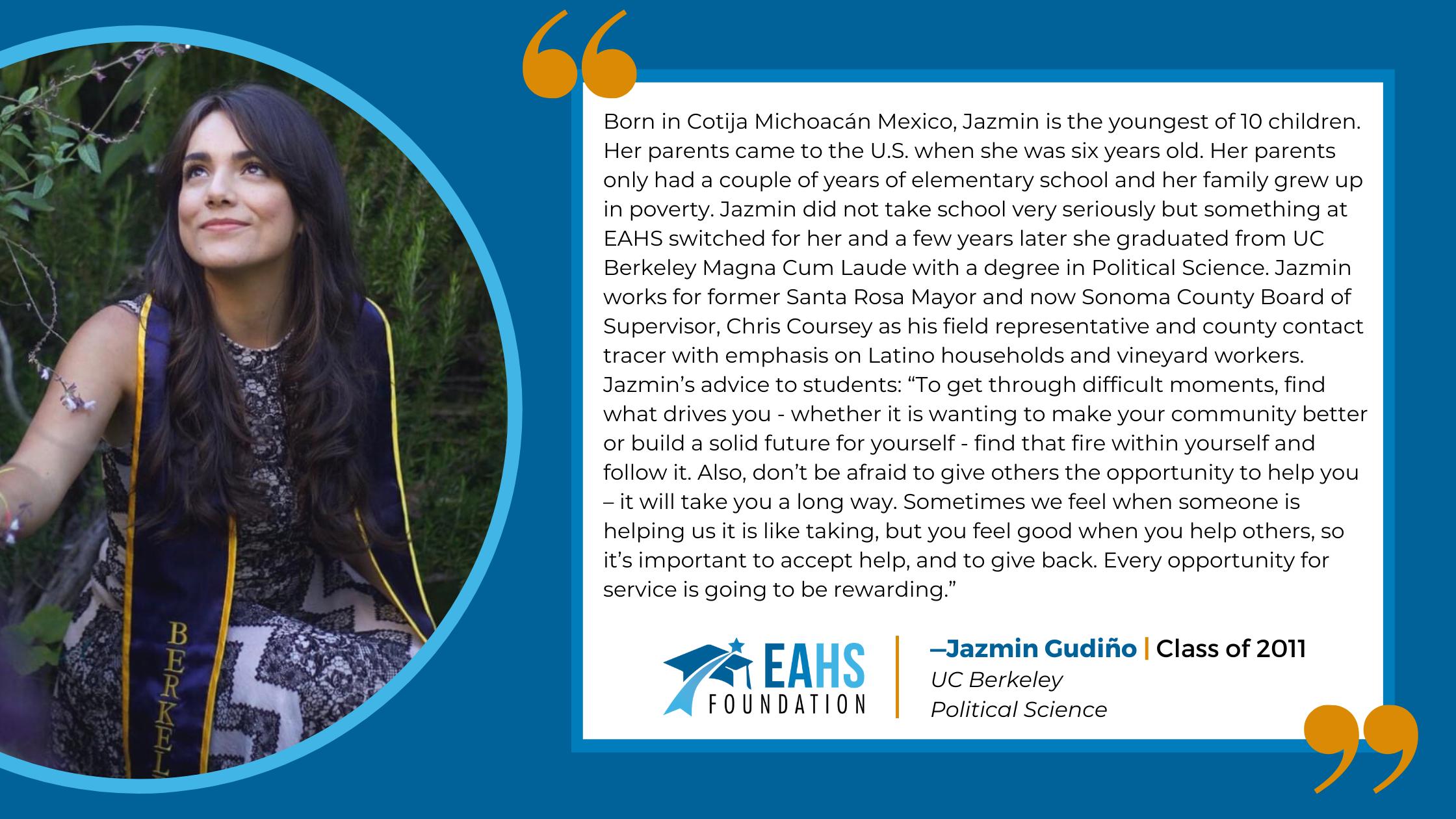 Alumni Spotlight - Jazmin Gudiño, EAHS Foundation