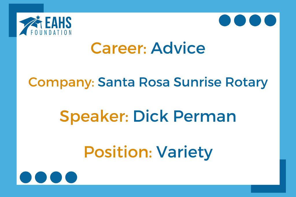 Career Advice from Dick Perman