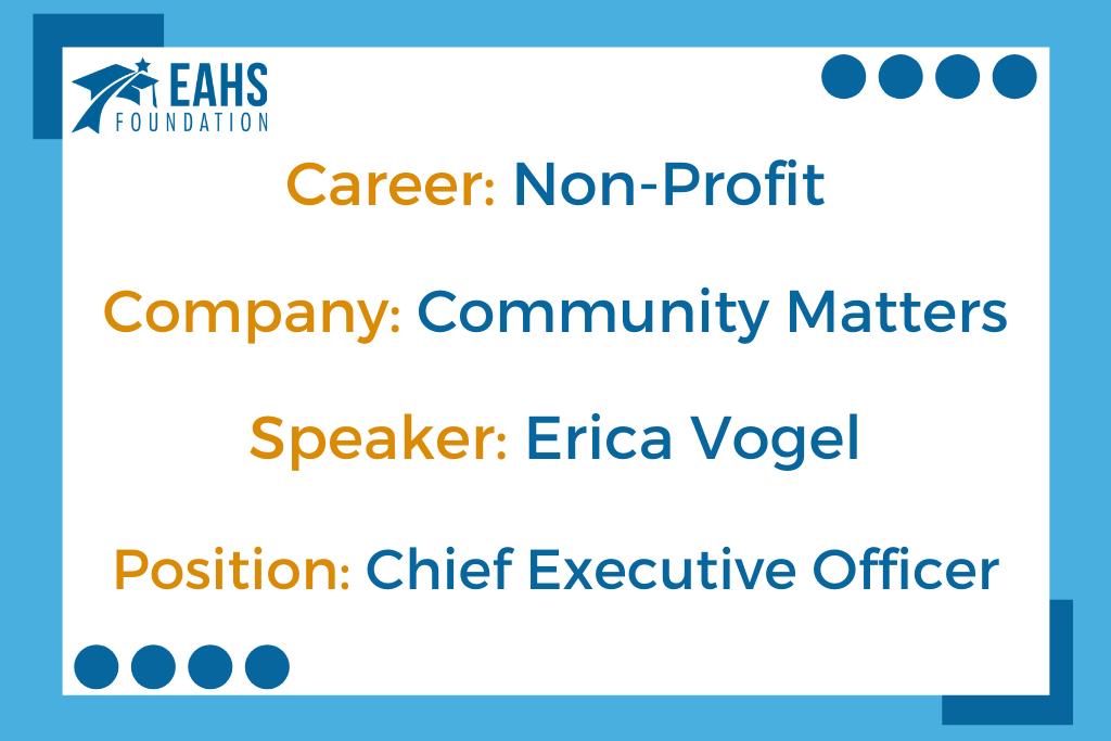 Community Matters, Erica Vogel