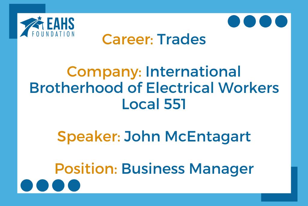 International Brotherhood of Electrical Workers Local 551, John McEntagart