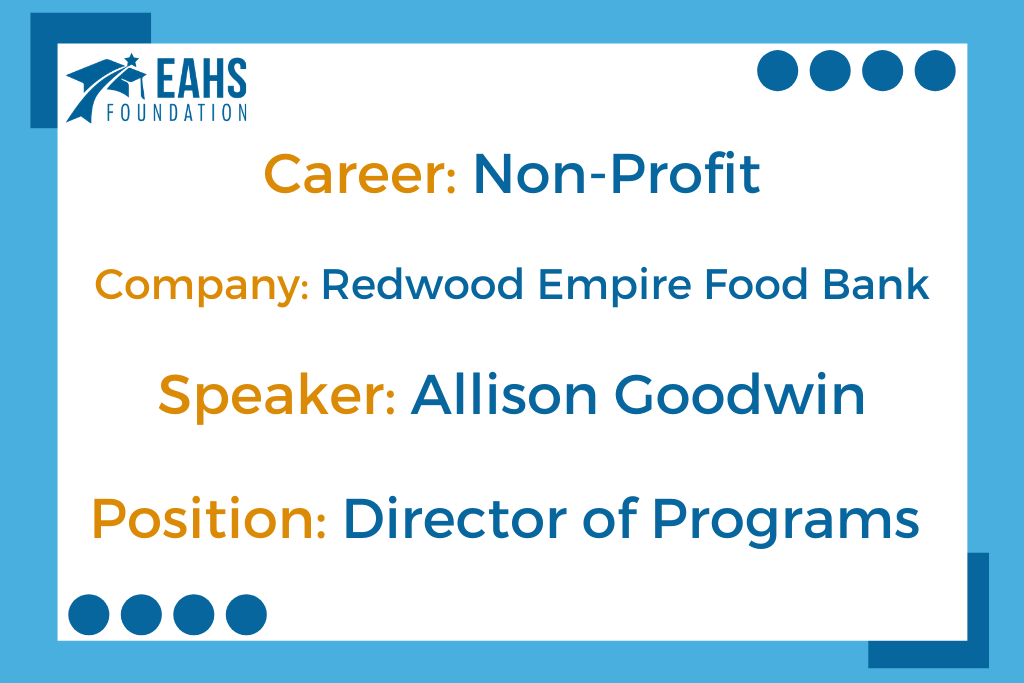 Redwood Empire Food Bank, Allison Goodwin