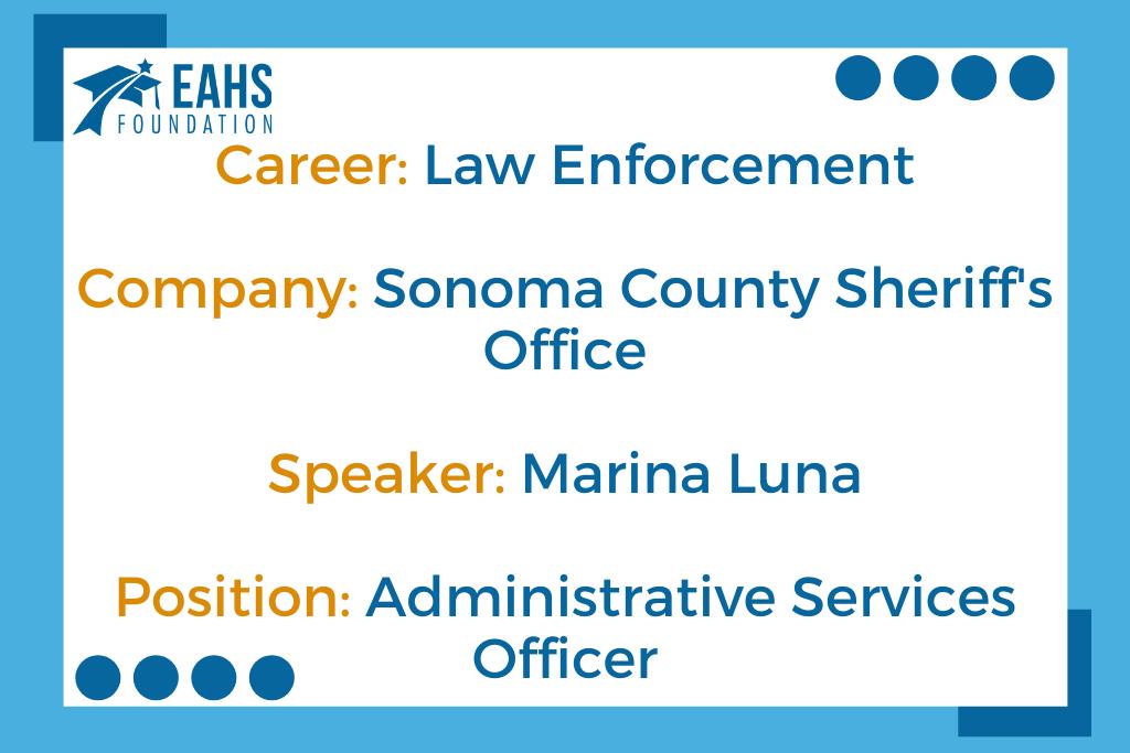 Sonoma County Sheriff, Marina Luna